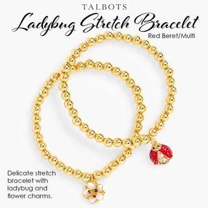 Talbots Ladybug Stretch Bracelet Red Beret/Multi